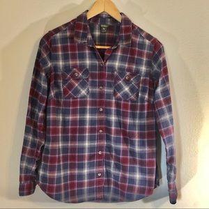 Eddie Bauer flannel button up shirt.